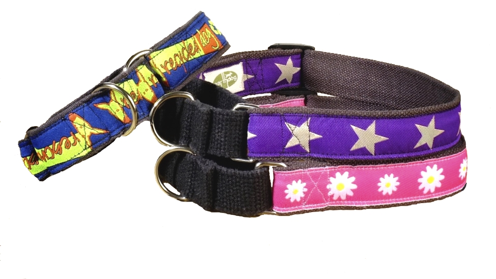 earthdog eco friendly hemp martingale collars in three styles