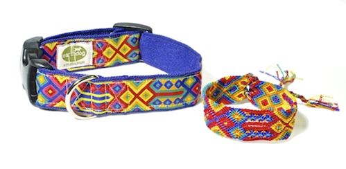 earthdog speck hemp dog collar bracelet