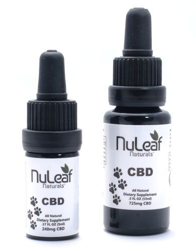 NuLeaf full spectrum cbd cannabis oil bottles
