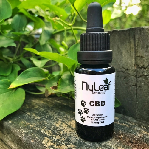 NuLeaf full spectrum cbd cannabis oil bottle