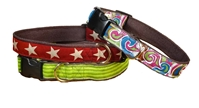 three earthdog hemp adjustable dog collars in dietrich kody 2 and flanagan styles
