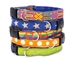 A stack of earthdog decorative hemp dog collars.