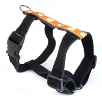 earthdog decorative eco friendly hemp dog harness in astrid daisy pattern
