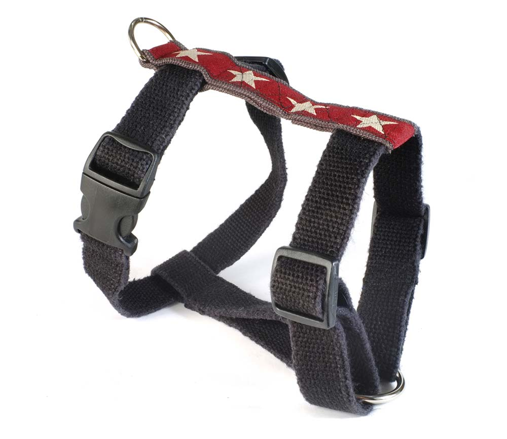 Hemp Dog Harness Decorative Earthdog Eco Friendly In Kody Ii Star Pattern