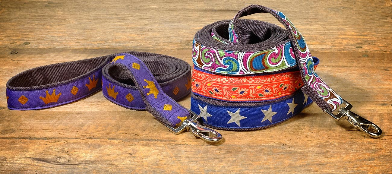 earthdog decorative eco friendly dog leashes in four styles