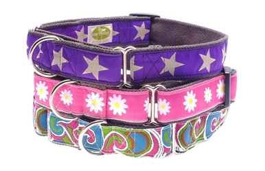 earthdog eco friendly hemp martingale dog collars in three styles