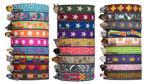 earthdog decorative martingale eco friendly hemp dog collars in 27 cool patterns