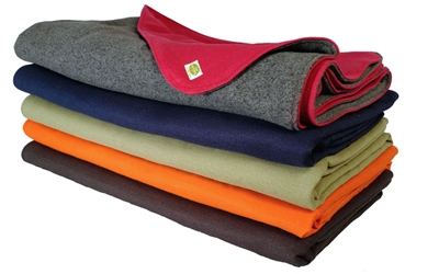 earthdog eco friendly hemp canvas and recycled fleece dog blanket stack 4 colors