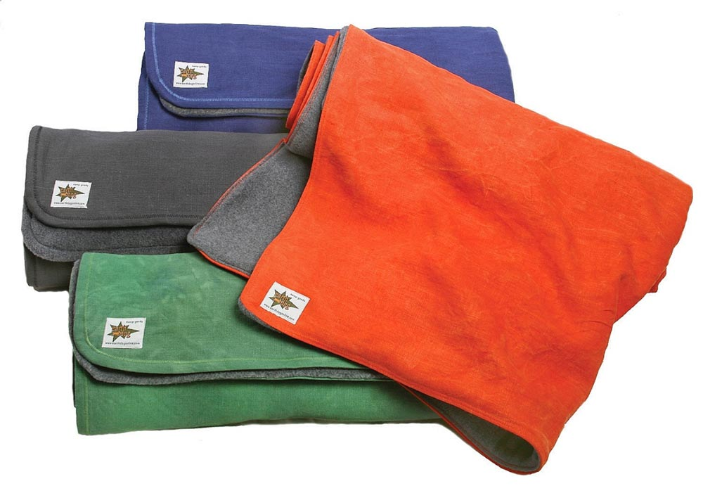 earthdog eco friendly hemp canvas and recycled fleece dog blankets 4 colors