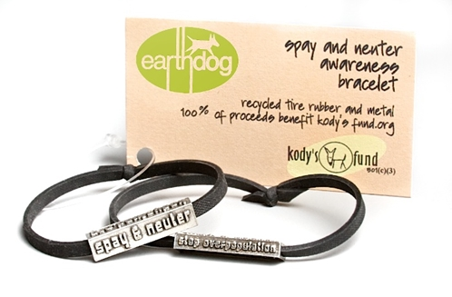 earthdog spay neuter rescue bracelets fundraising kodys fund