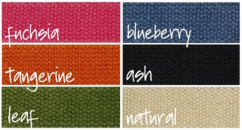 earthdog solid hemp line color palette of six colors ash blueberry leaf tangerine and natural