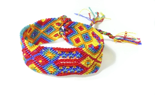 earthdog friendship bracelet that matches hemp dog collar