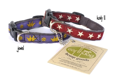 earthdog extra small adjustable eco friendly hemp dog collars