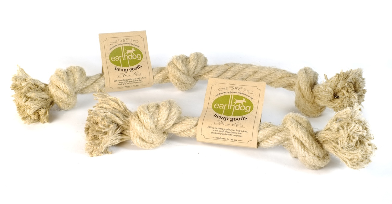 earthdog eco friendly romanian hemp rope dog toys